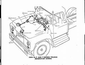 Ford Truck 1964 B F And T Series Generator Wiring Diagram  61836