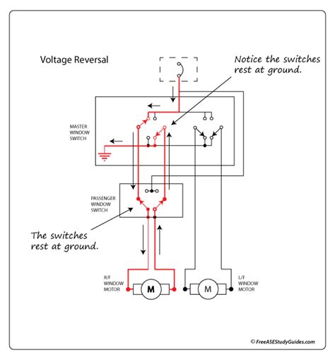 Window Switch Wiring Schematic by Diagram Of A Power Window Circuit