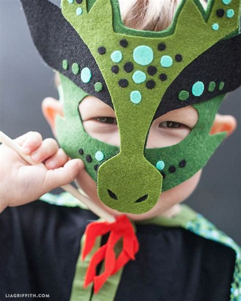 homemade halloween costume  sew dragon mask dragon