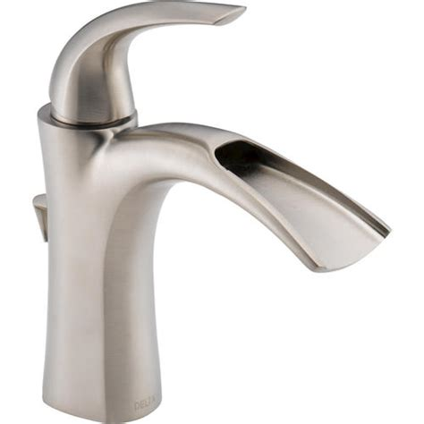 kitchen sink faucets at menards delta 174 nyla 1 handle open channel bathroom sink faucet at