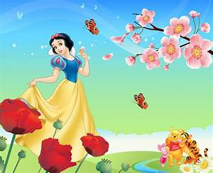 Beautiful Snow White and the Seven Dwarfs design 3d ...