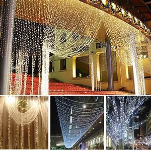 Solar Party String Lights 10m 100 Led Christmas Rgb Wedding Party Decor Outdoor