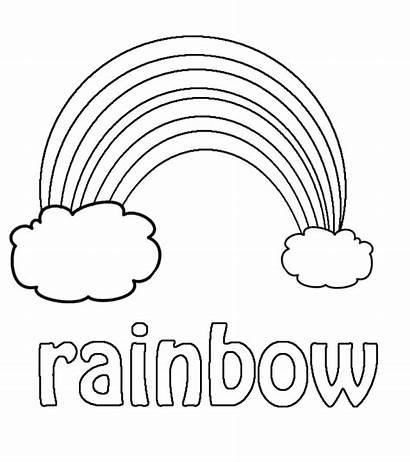 Coloring Pages Kindergarten Preschool Rainbow Weather Sheet