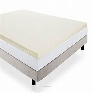 video review lucid 4quot memory foam mattress topper queen With best deals on mattress toppers