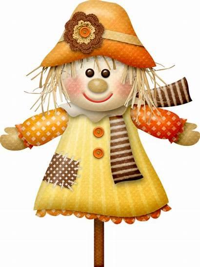 Scarecrow Clipart Autumn Doll Fall Halloween Happy