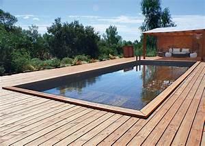 Piscine Bois Semi Enterrée : piscine design marie claire ~ Melissatoandfro.com Idées de Décoration
