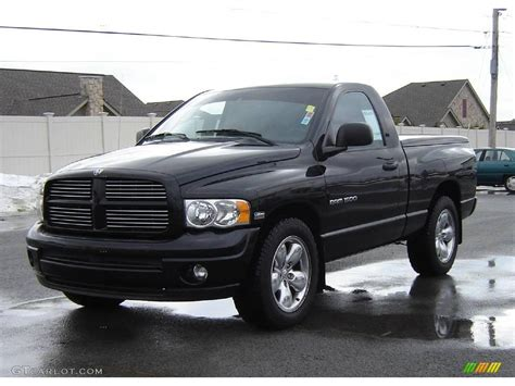 2003 Black Dodge Ram 1500 St Regular Cab #3701863