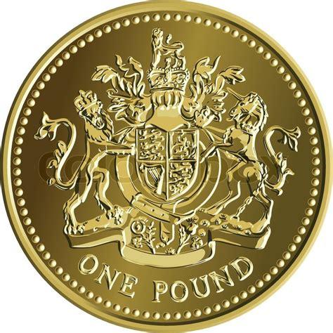 vektor britische geld pfund gold vektorgrafik