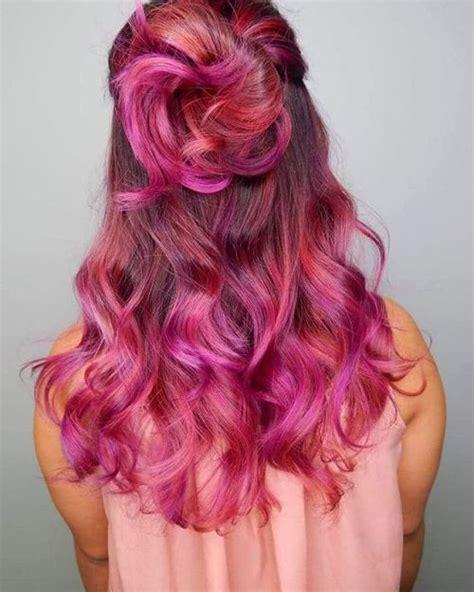 unboring styles  magenta hair color