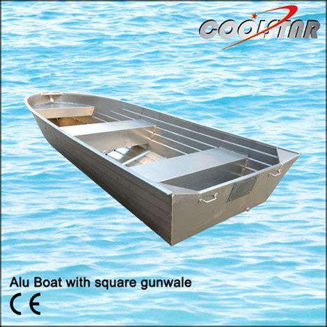 Aluminum Fishing Boats China by China Aluminium Boat With Square Gunwale China Aluminium