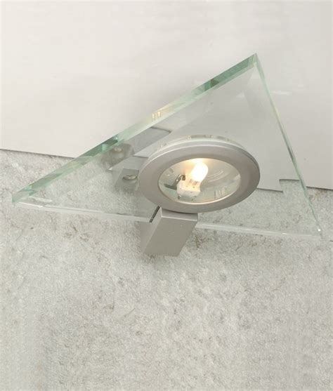 glass cabinet light triangular