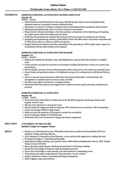 Finance Resume Sles by Rpa Developer Responsibilities The Best Developer Images