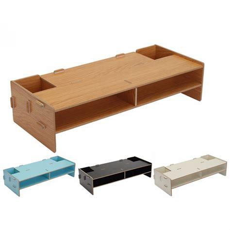 desk shelf riser home office desk pc computer monitor lcd tv stand riser