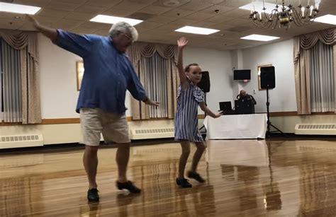 Massachusettes Grandpa Tap Dances At Recital With