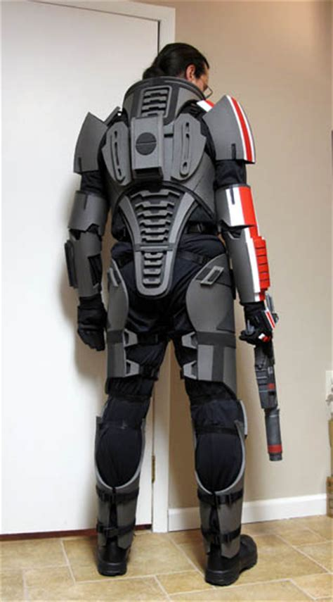 Mass Effect 3 N7 Armor Template by 2013 Mass Effect N7 Armor Build