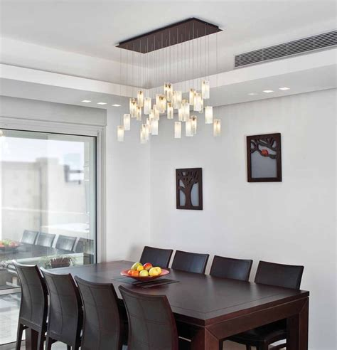 drops chandelier contemporary dining room los