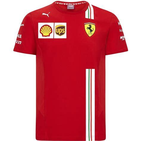 2020 scuderia ferrari f1 team mens jacket softshell fleece coat official product. Scuderia Ferrari F1 Kids 2020 Team T-Shirt Red