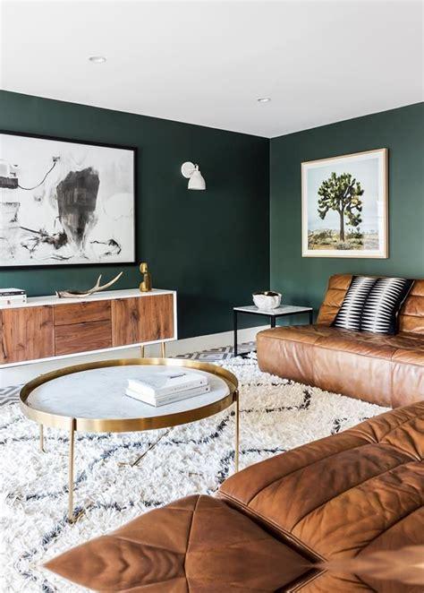 wohnzimmerdekor ideen gruene wandfarbe gruenes wohnzimmer