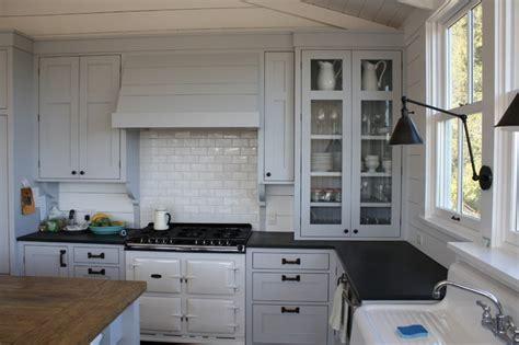 vintage stove hidden hood traditional kitchen san