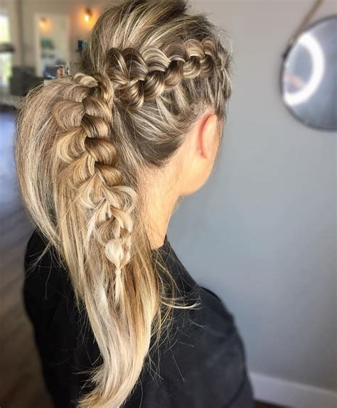 ultra ponytail braided hairstyles  long hair