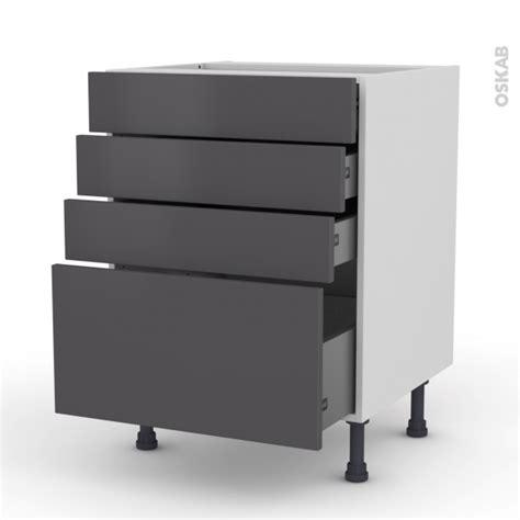 meuble de cuisine gris meuble de cuisine casserolier ginko gris 4 tiroirs l60 x