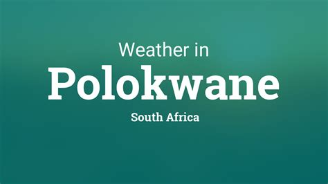 weather  polokwane south africa