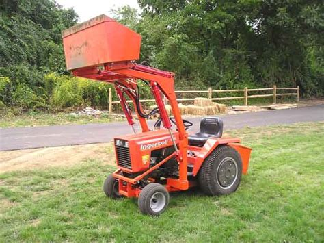 garden tractor loader p f engineering do it yourself plans backhoes and front 3734