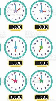 Clock That Show Every Hour Illustration 1 Stock ...
