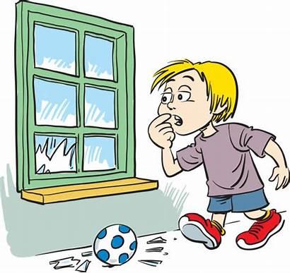 Ball Window Breaking Clip Broken Glass Boy
