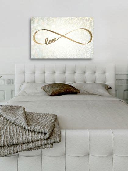 sparkle love canvas  oliver gal  gilt decor ideas