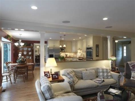 wall  kitchen  familyroom   home pinterest open family room living room kitchen  layout