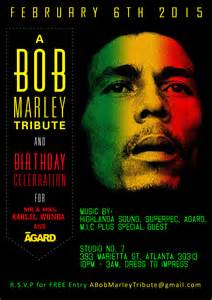 70th Birthday Bob Marley