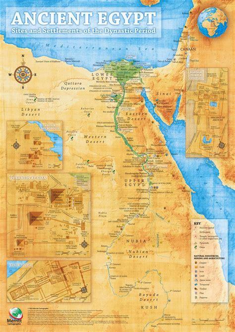 map  ancient egyptian sites  settlements egypt
