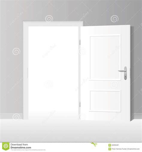 porte blanche grande ouverte illustration de vecteur image 59090481