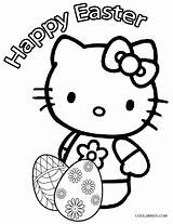 Easter Coloring Pages Egg Kitty Hello Eggs Colouring Printable Cool2bkids Bunny Sheets Cartoon Popular sketch template