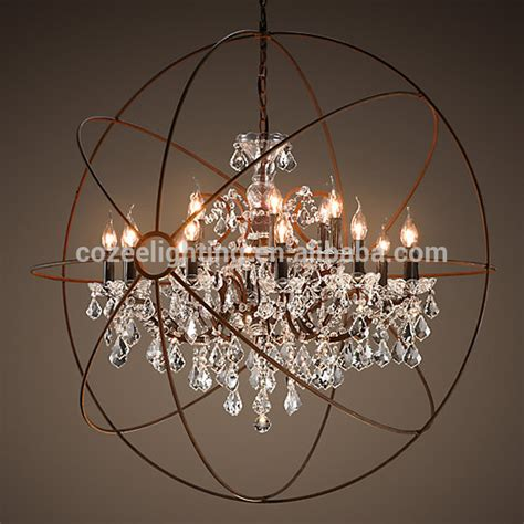 Large Circular Chandelier by European Style Classical Vintage Cristal