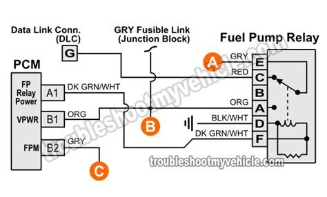 Part Fuel Pump Circuit Tests