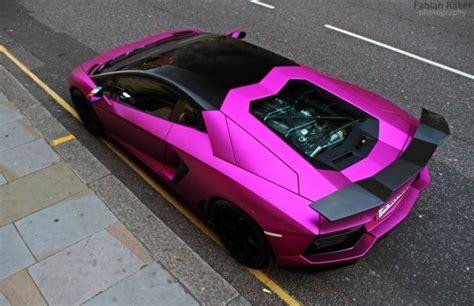 matte pink lamborghini aventador lp   oakley design
