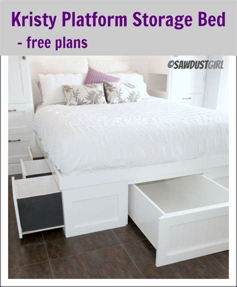 woodwork plans building  platform bed  storage  plans