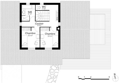 plan de maison en l avec 4 chambres plan maison à étage de 110 m avec véranda ooreka
