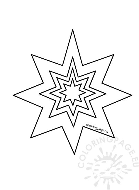 pointed star pattern coloring page