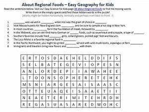 Image of Regional Foods Worksheet - Free Planet Earth ...