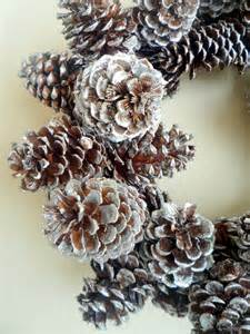 crafty sisters glittered pinecone wreath