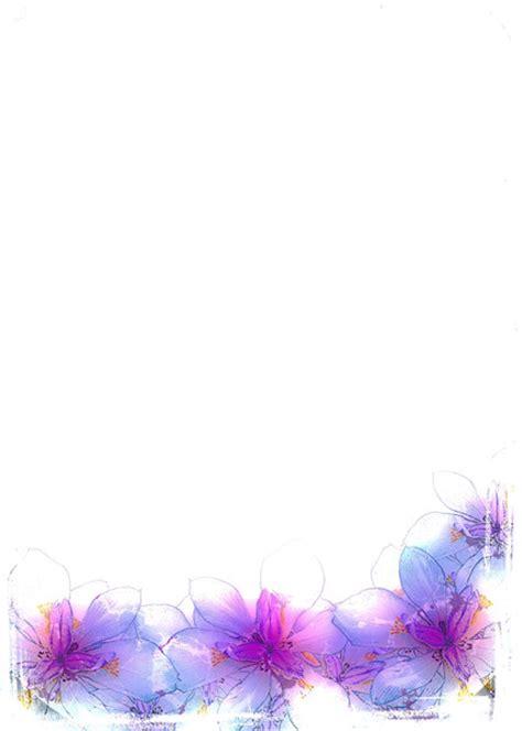 Elegant Purple Flower Border