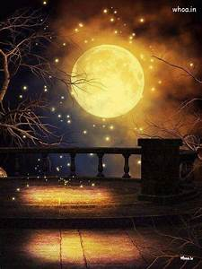 Full Yellow Moon Photography Art