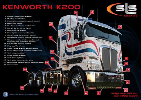 kenworth  stainless accessories  sls trucking