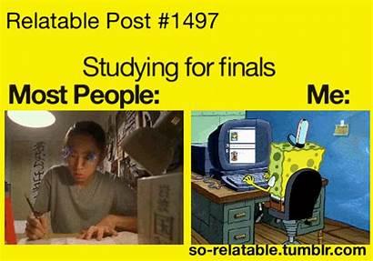 Relatable Posts Gifs Funny Studying Spongebob Memes