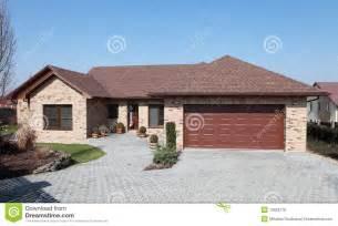 Fresh Modern Brick Houses by New Brick House Stock Photo Image 13853170