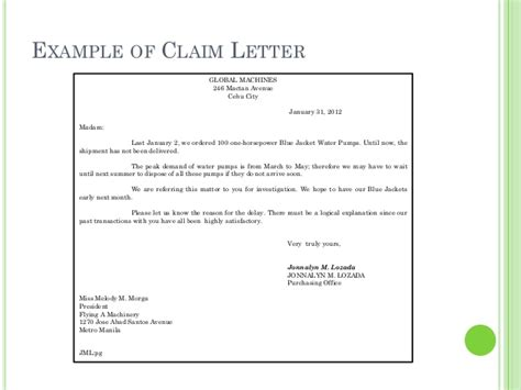 letter  authorization  claim check sample templates