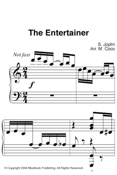 This sheet music is for piano note: App Shopper: Joplin: The Entertainer (Easy Piano Solo) (Music)
